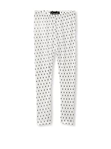 A for Apple Ren Leggings with Lady Bug Print (White)