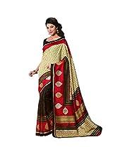 Bhavi Printed Sanganeri Silk Sari