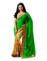 TrynGet's Green fancy Georgette Saree