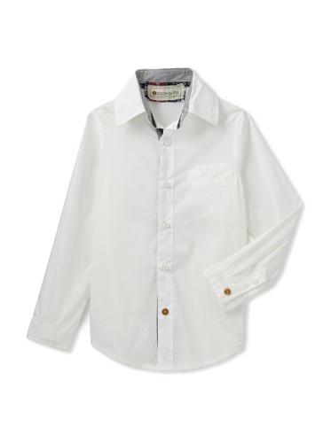 hitch-hiker Boy's Basic Button-Up Shirt (Panna)