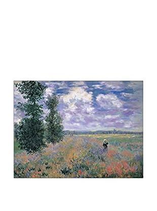 ArtopWeb Panel de Madera Monet Les Coquelicots Environs D Argenteuil 60x80 cm