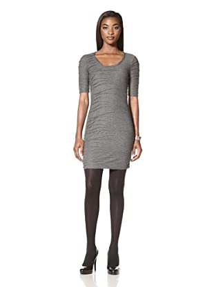 Donna Morgan Women's Shelby Textured Knit Sheath Dress (Slate Grey)