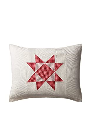 Sag Harbor Standard Sham, Cream/Red