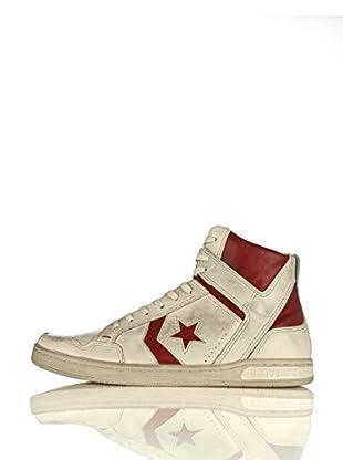 Converse Zapatillas Weapon Varvatos Mid Leather Faded (Blanco / Rojo)