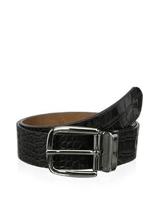 Just Cavalli Men's Reversible Croc Belt (Black)