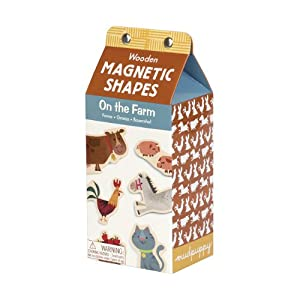 On the Farm Wooden Magnetic Shapes (Set of Thirty 1-3/4