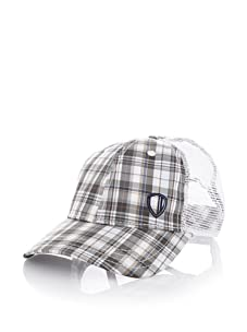 Ben Sherman Men's Check Baseball Cap (Olive)