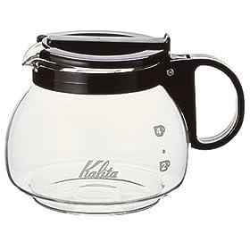 【クリックで詳細表示】Kalita コーヒーメーカー用 102サーバー 600CCブラック: ホーム&キッチン