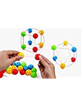 Magic Plugged Beads 3D Model Making Intelligence Toy for Kids Children Ages 3+ Years