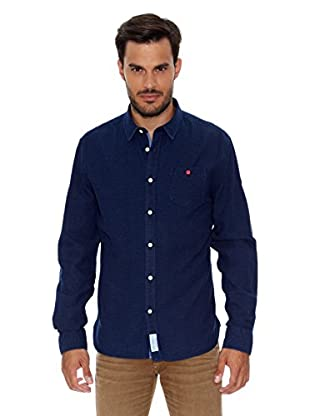 Pepe Jeans London Camisa Hombre Hudson (Azul Oscuro)