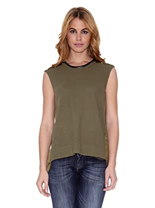 Salsa Camiseta Cains Regular (Verde Oliva)