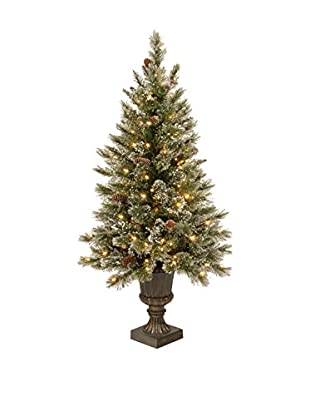 National Tree Company 5' Glittery Bristle Pine Entrance Tree