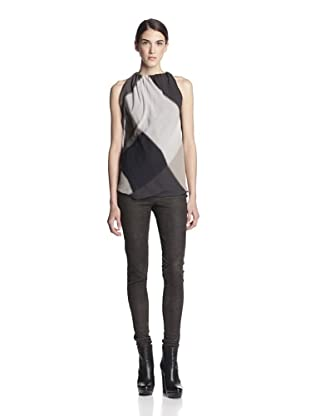 Rick Owens Women's Colorblock Top (Milk/Black)