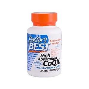 【クリックでお店のこの商品のページへ】海外直送品 Doctors Best High Absorption CoQ10, 120 Softgels 100 Mg: ドラッグストア