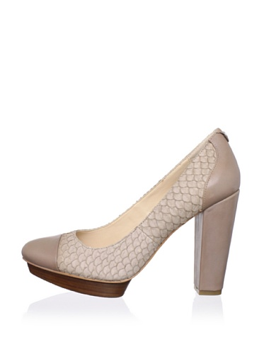 Calvin Klein Women's Kathy Platform Pump (Light Taupe)