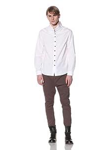 Saxony Men's Kosovo Long Sleeve Shirt (White)