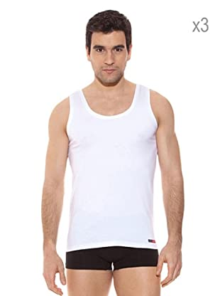 Pierre Cardin Pack x 3 Camisetas Tirantes (Blanco)