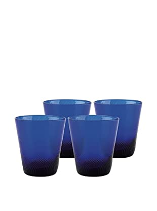 Set of 4 Roma Rocks Glasses (Cobalt)