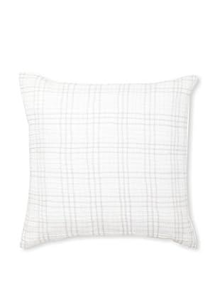 Vera Wang Crinkle Plaid Decorative Pillow, White, 20