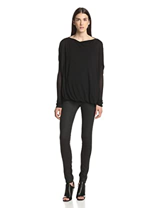 Rick Owens Lilies Women's Double-Layer Top (Black)