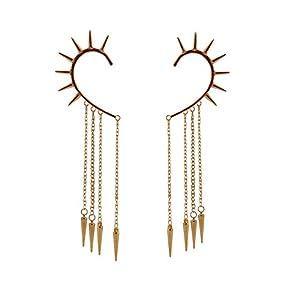 Habors Metal Dangle & Drop Earring For Women (Gold)