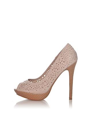 Chalada Zapatos Peep Toe Picado (Beige)