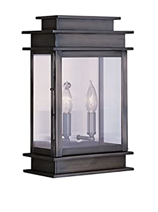 Crestwood Amelia 2-Light Wall Lantern, Vintage Pewter