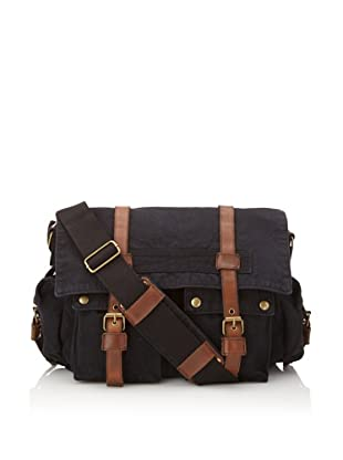 J. Campbell Los Angeles Washed Canvas Cross-Body Messenger (Black)