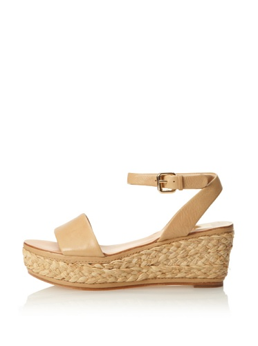 Dolce Vita Women's Helen Wedge Sandal (Nude Leather)