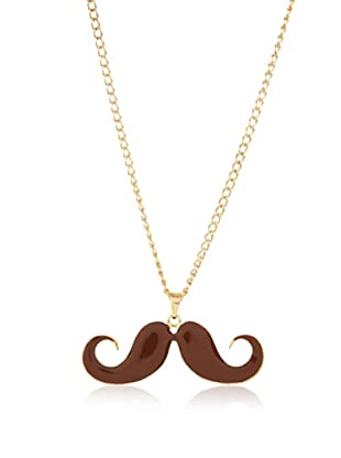 Poète Collar Mustache Liso (Marrón)