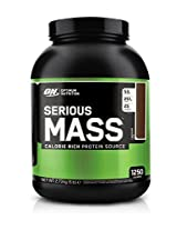 Optimum Nutrition Serious Mass, No Sugar Added - 6 lbs (Chocolate)