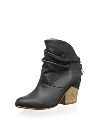 Fiel Women's Stanton Ruched Ankle Bootie (Black)
