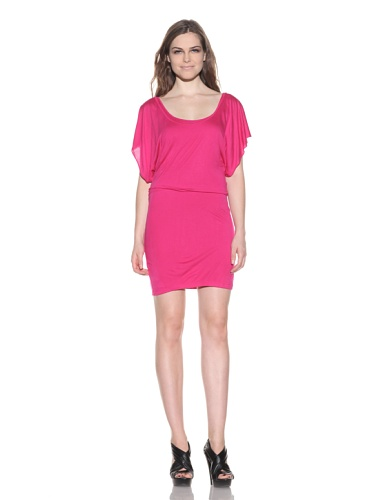 under.ligne by Doo.Ri Women's Dress with Draped Back Detail (Magenta)