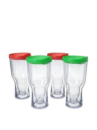 AdNArt Set of 4 Brew to Go (Red/Gren)