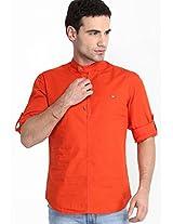 Striped Orange Casual Shirt Locomotive