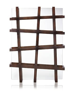 Criss-Cross Wood-Wrapped Frame, Brown