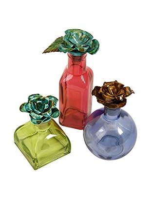 Set of 3 Lindsey Decorative Bottles