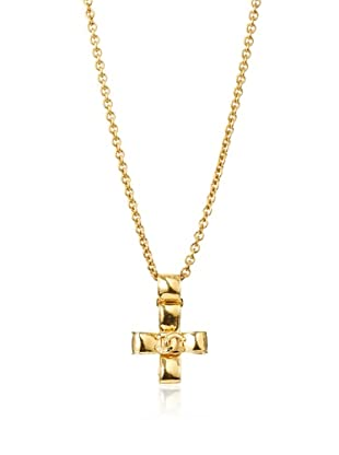 CHANEL Maltese Cross Pendant Necklace