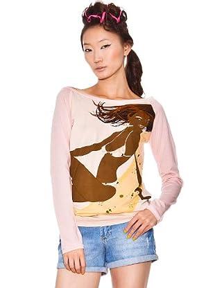Custo Camiseta Ufa (Rosa / Marrón)