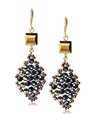 Saachi Diamond Shape Beaded Earrings