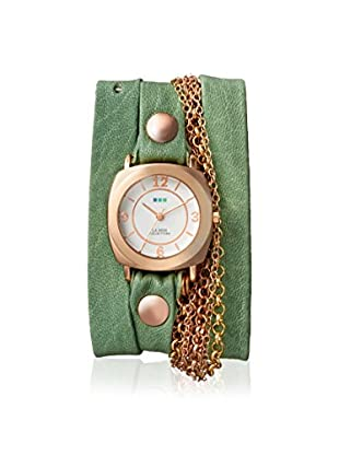 La Mer Collections Women's LM7607 Rose-Tone/Melon Leather Watch