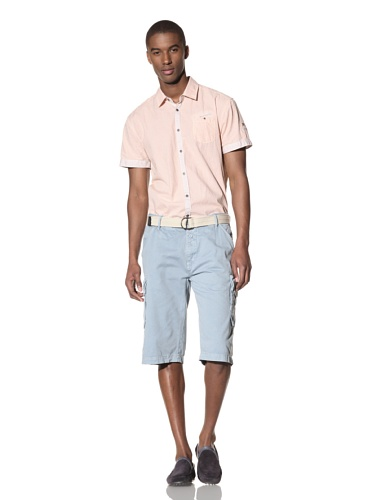 No Excess Men's Belted Twill Cargo Short (Cloud)