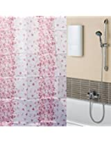 170x180cm Bathroom Red Floral Waterproof Polyester Fibre Shower Curtain