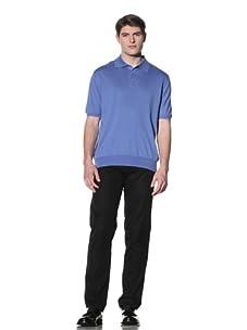 Cruciani Men's Short Sleeve Polo (Blue)