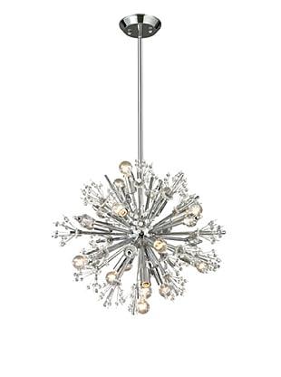 Artistic Lighting Starburst Collection 15-Light Chandelier, Polished Chrome