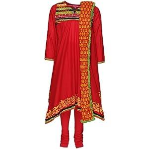 Red Churidar Kameez Dupatta