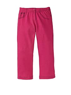 Petite Moon Girl's Peace Sign Jegging (Hot Pink/Black)