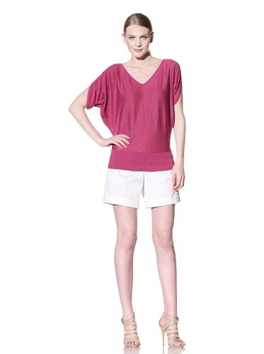 Lafayette 148 New York Women's Dolman Sleeve Sweater (Peony)