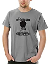 Socratees Men's Grey Cotton Sherlocked T-shirt