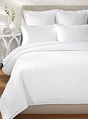 Belle Époque Relaxed Rows Blanket (White)